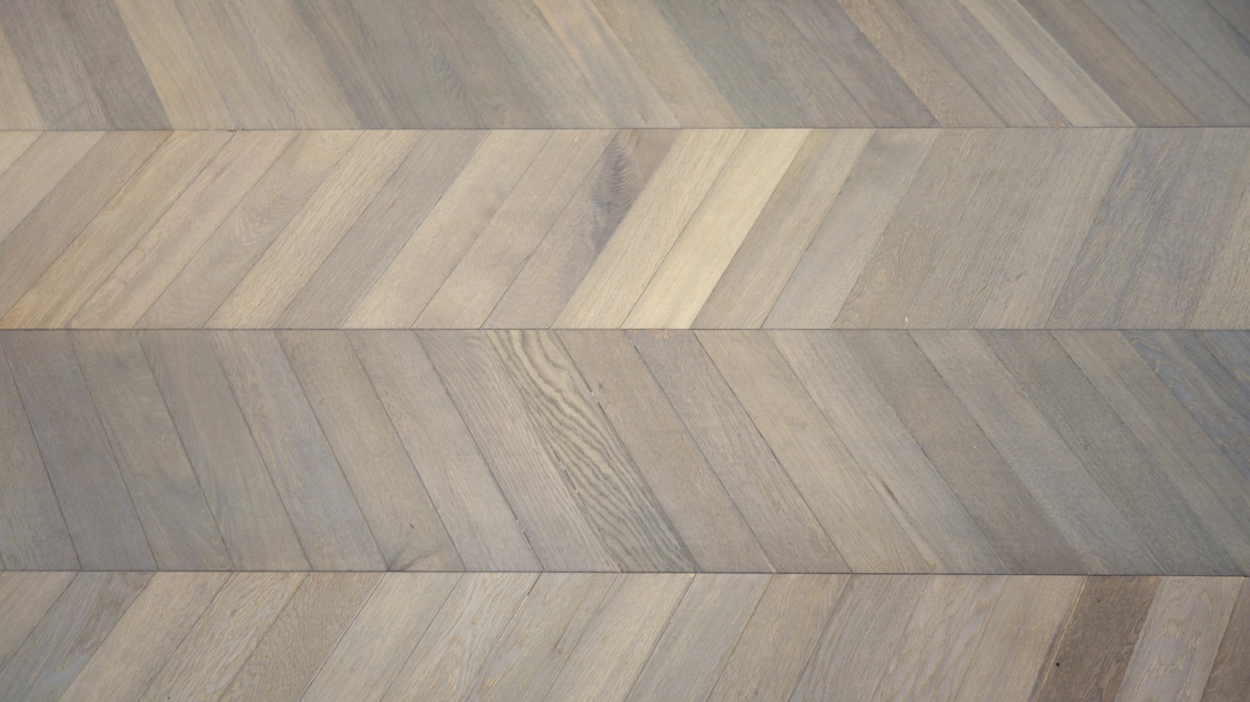 Chevron oak flooring from Kährs.