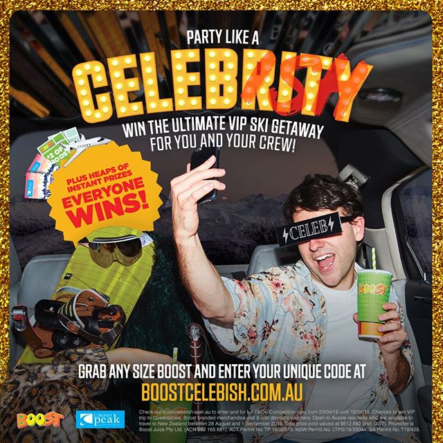 LIVE LIKE A CELEBRITY. DOUBLE YOUR CHANCES.⁣ ⁣Do you get mistaken for anyone famous? Ever been asked for your autograph? Well, we're looking for Australia's best doppelgänger ('lookalike' for those of you not fluent in German). Double your chances to win the Ultimate VIP Ski Getaway to Queenstown, NZ by uploading your selfie to find your celebrity look-alike! Just by doing this, you bag yourself another chance to party like a VIP!  Enter via boostcelebish.com.au. Ends 19th May. #boostjuice  #henrydeaneplaza⁣ ⁣