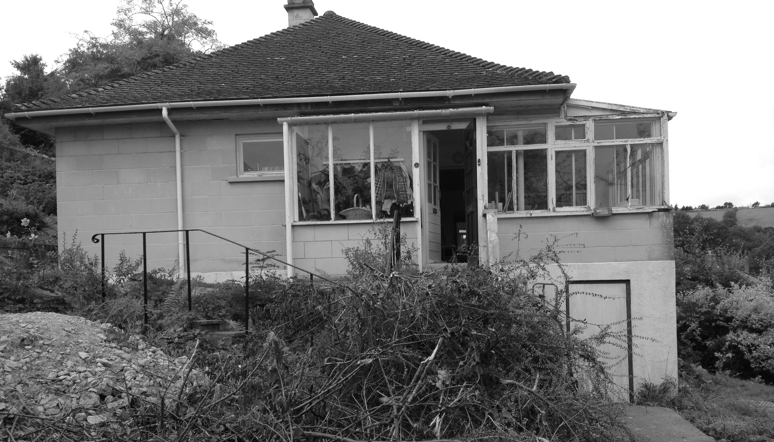 Before: The two bedroom 1950s bungalow had amazing potential