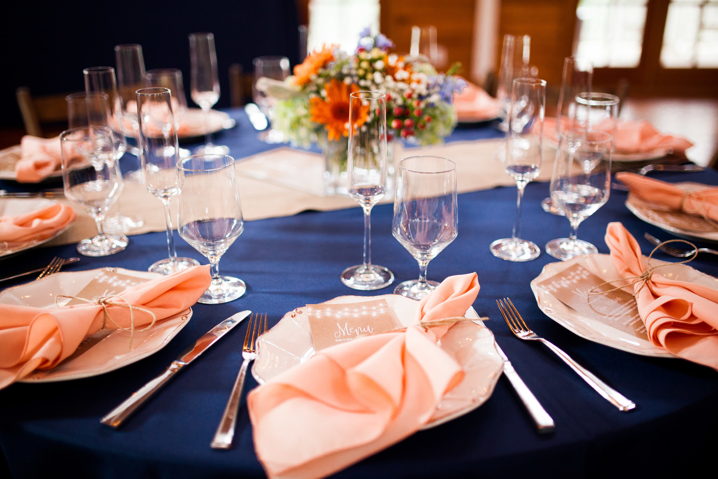 A CORAL + NAVY WEDDING AT THE POLAR GROVE BOATHOUSE