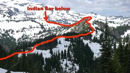 the Cowlitz Divide looking toward Indian Bar
