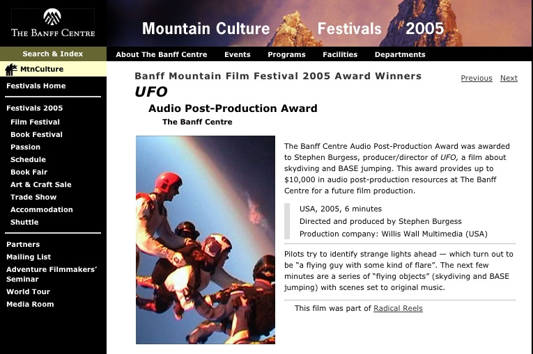Banff Mountain Film Festival award winner