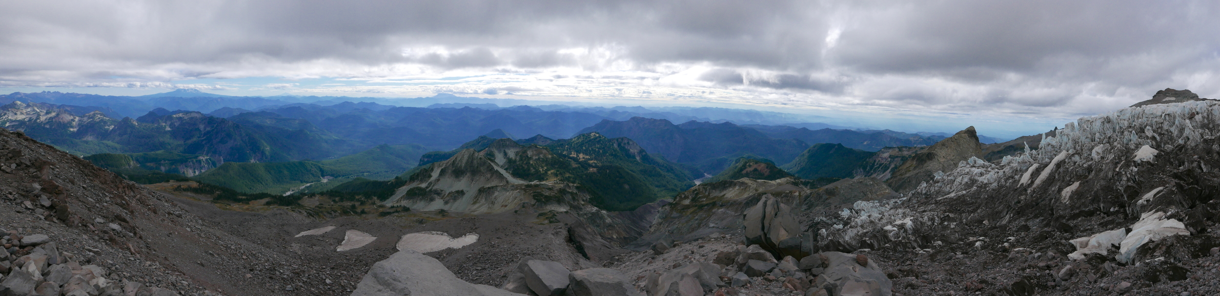 pano on the Success Divide at 7800'