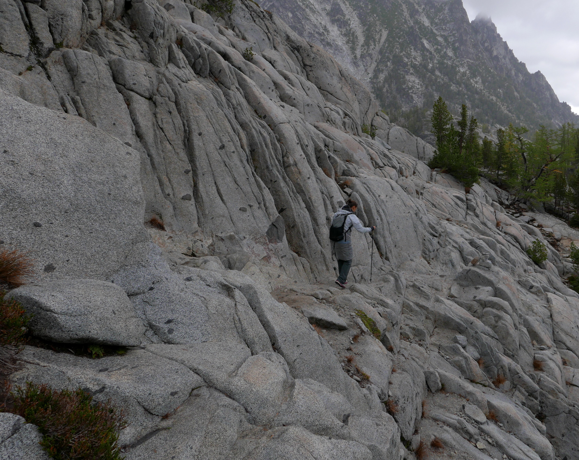 lower trail to the Enchantments