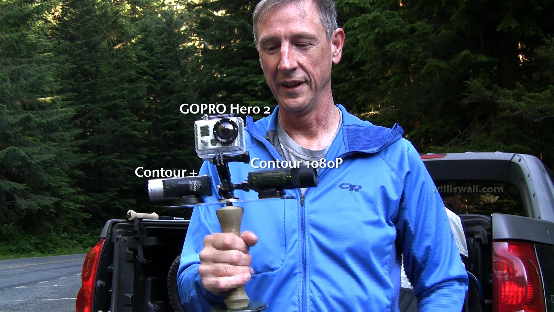 3 camera setup on custom pole mount (2012)