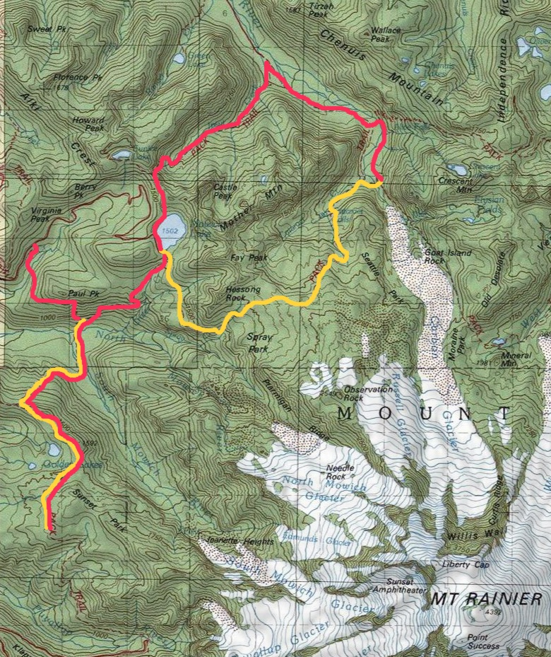 YELLOW= actual trail coverage