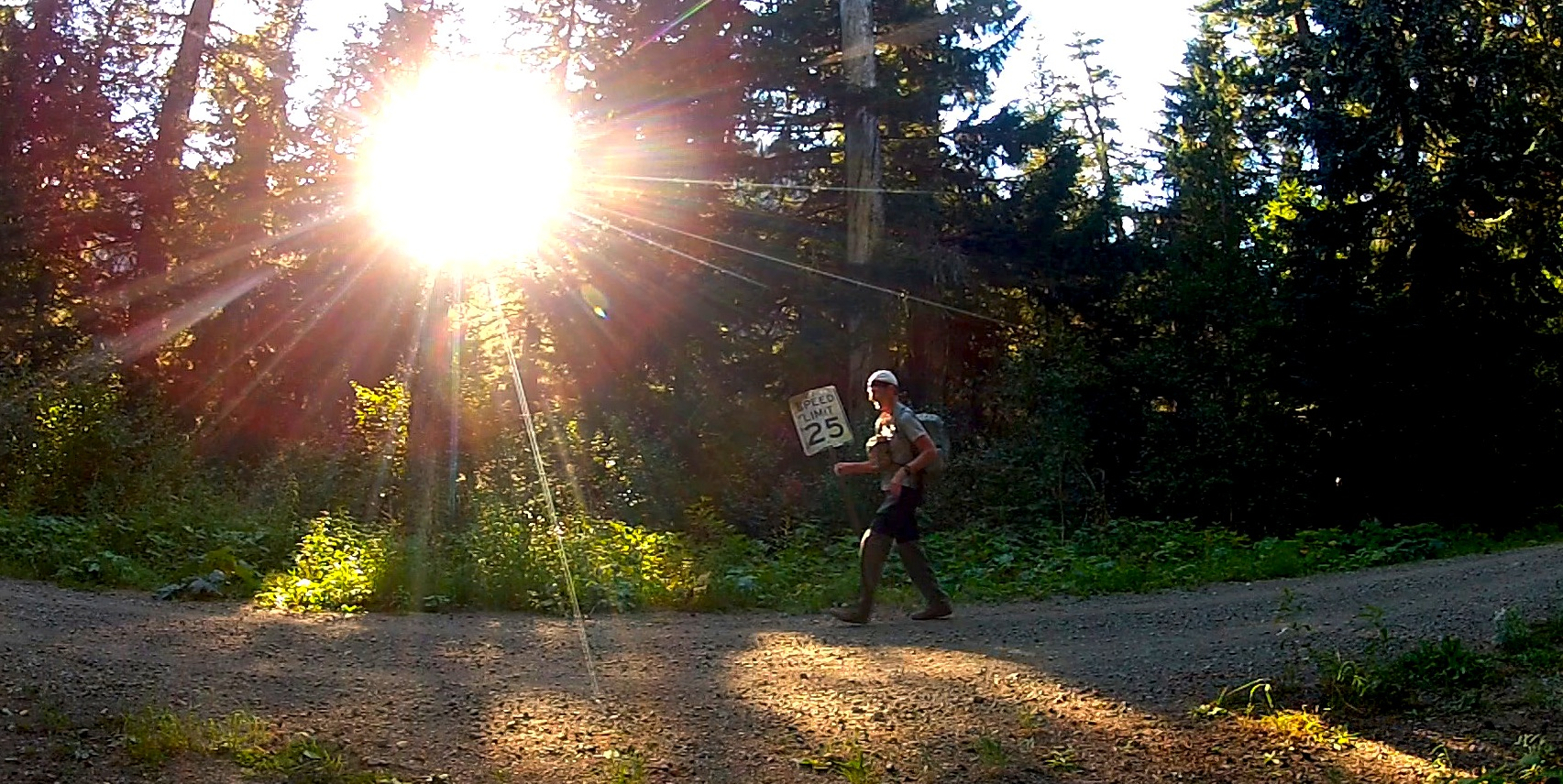 running the last leg on the West Side road for pickup after finishing filming the entire Wonderland Trail, October 04, 2012