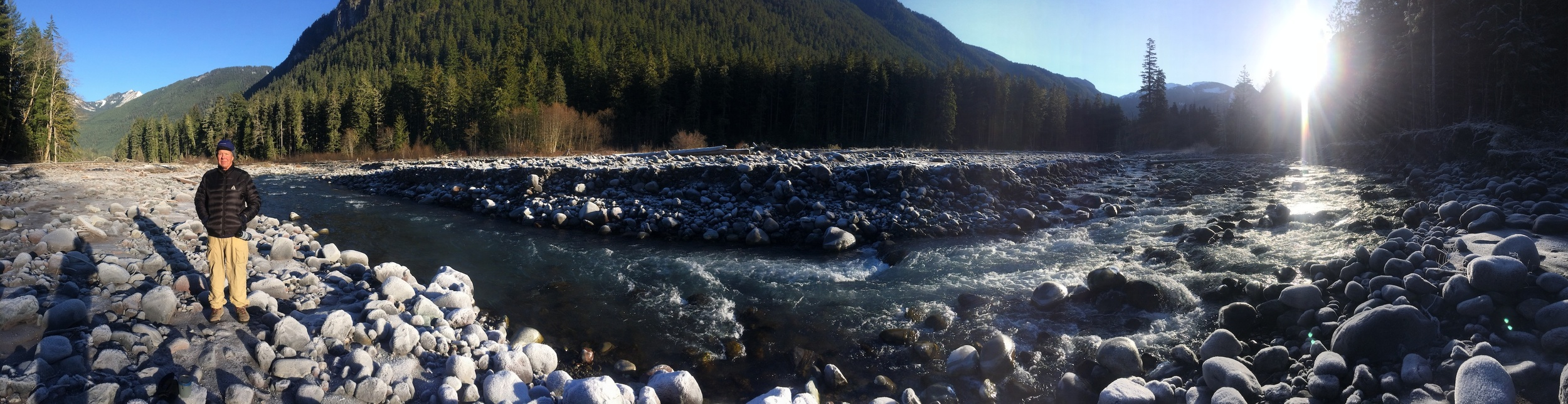 early November morning on the Carbon River (Mother Mountain Orbit)