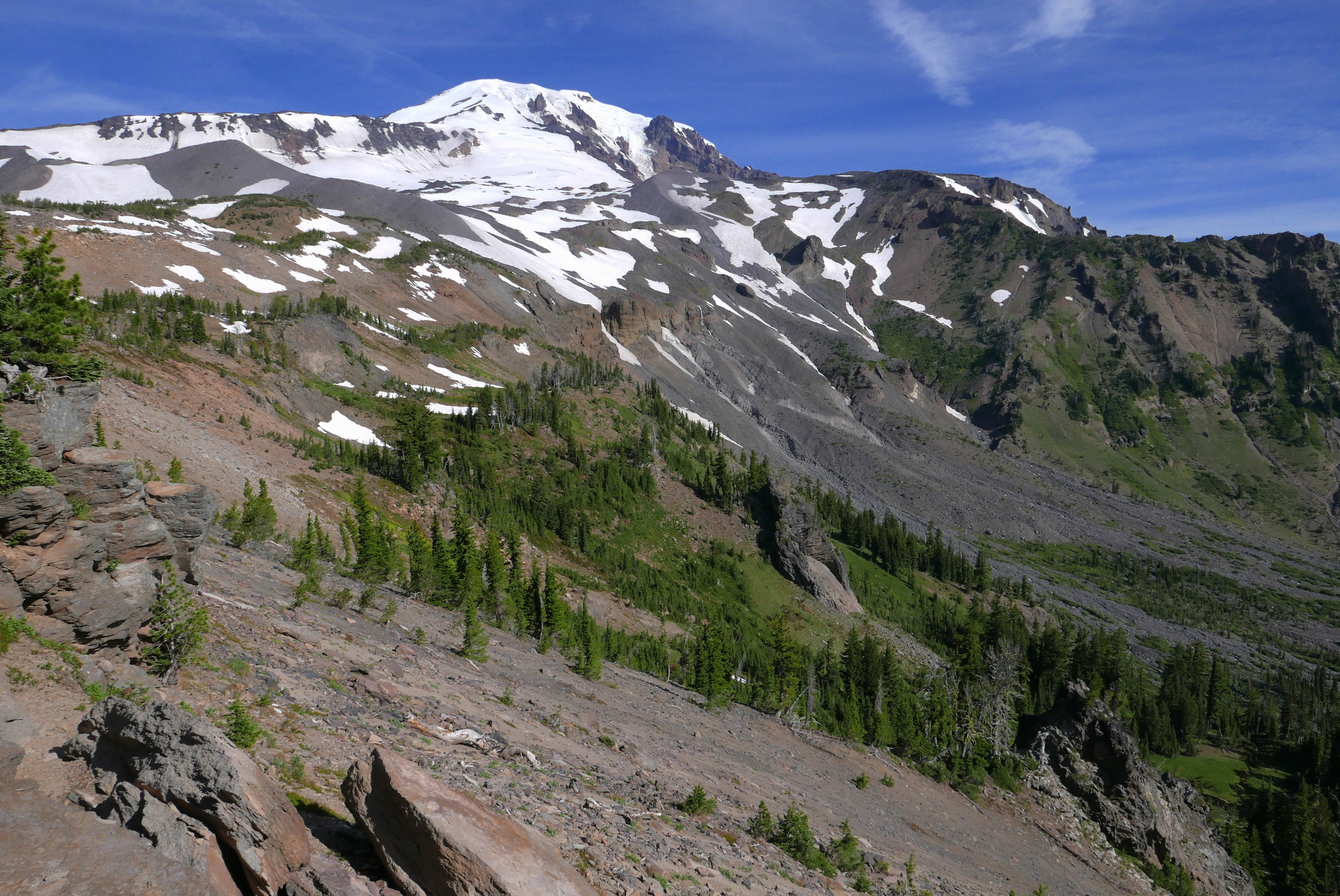 Hellroaring valley, start of off trail, Mt. Adams east side