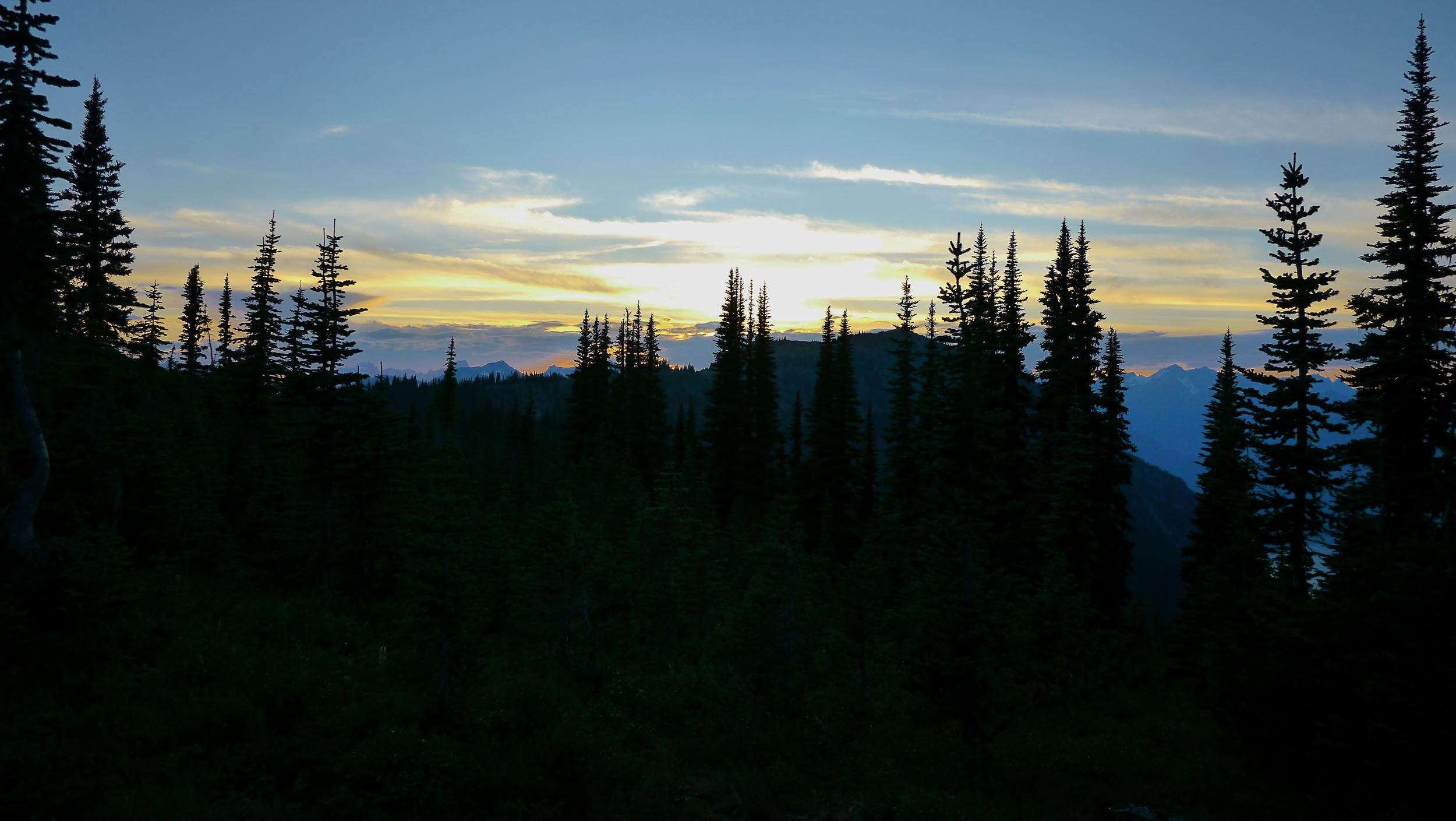 sunset at Dry Creek pass