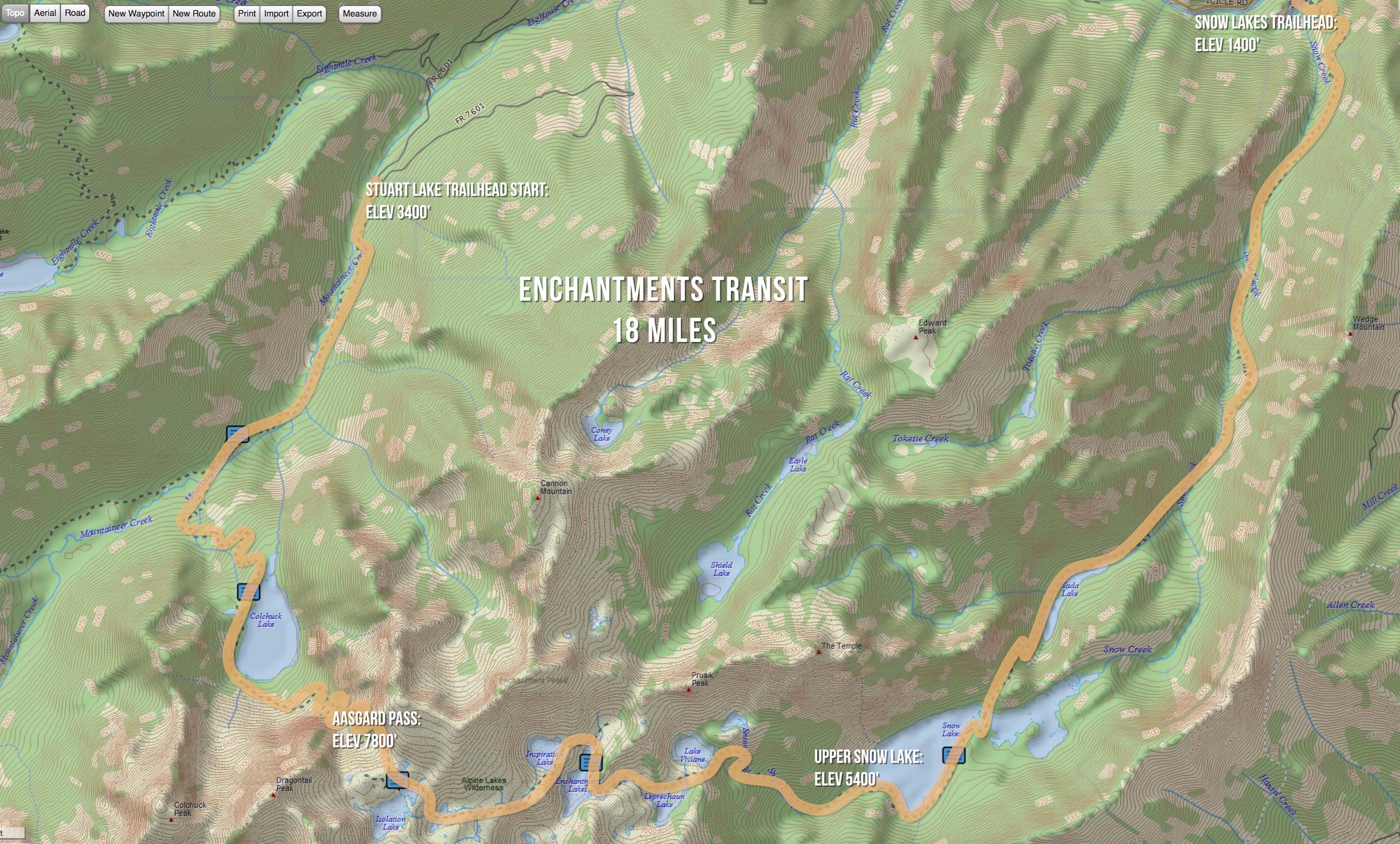 Our one day transit of the Enchantments on August 12, 2016