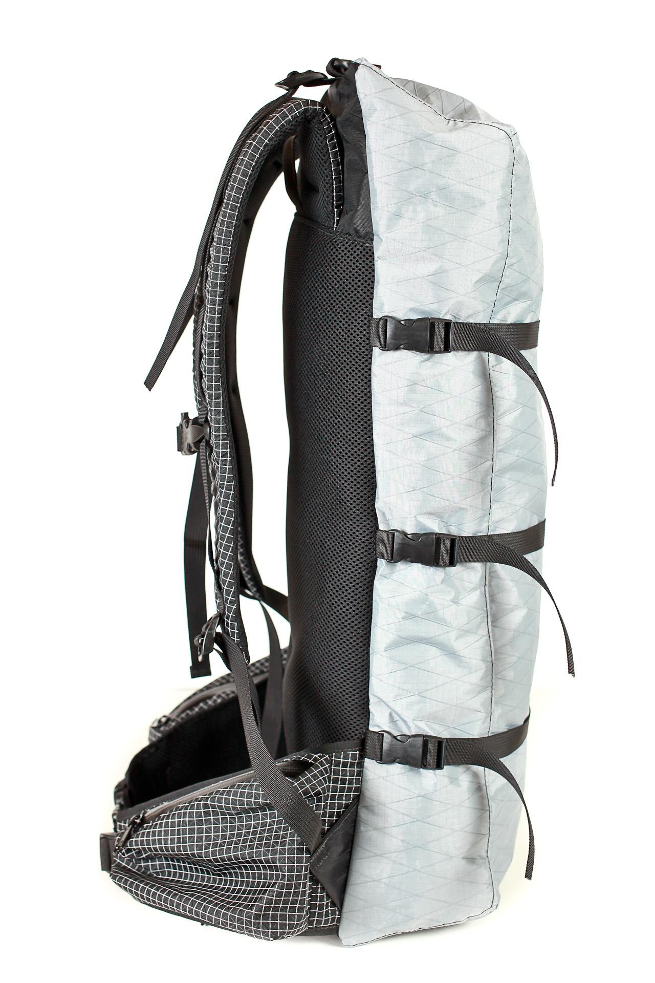 "Zimmerbuilt custom pack: 4"" deep"