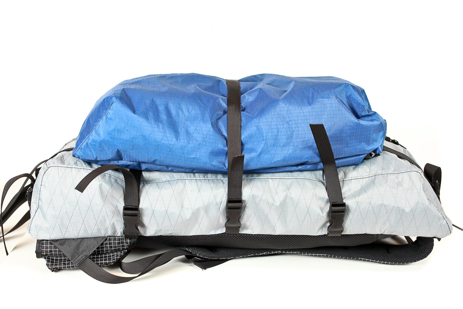 Zimmerbuilt custom pack with detachable food bag