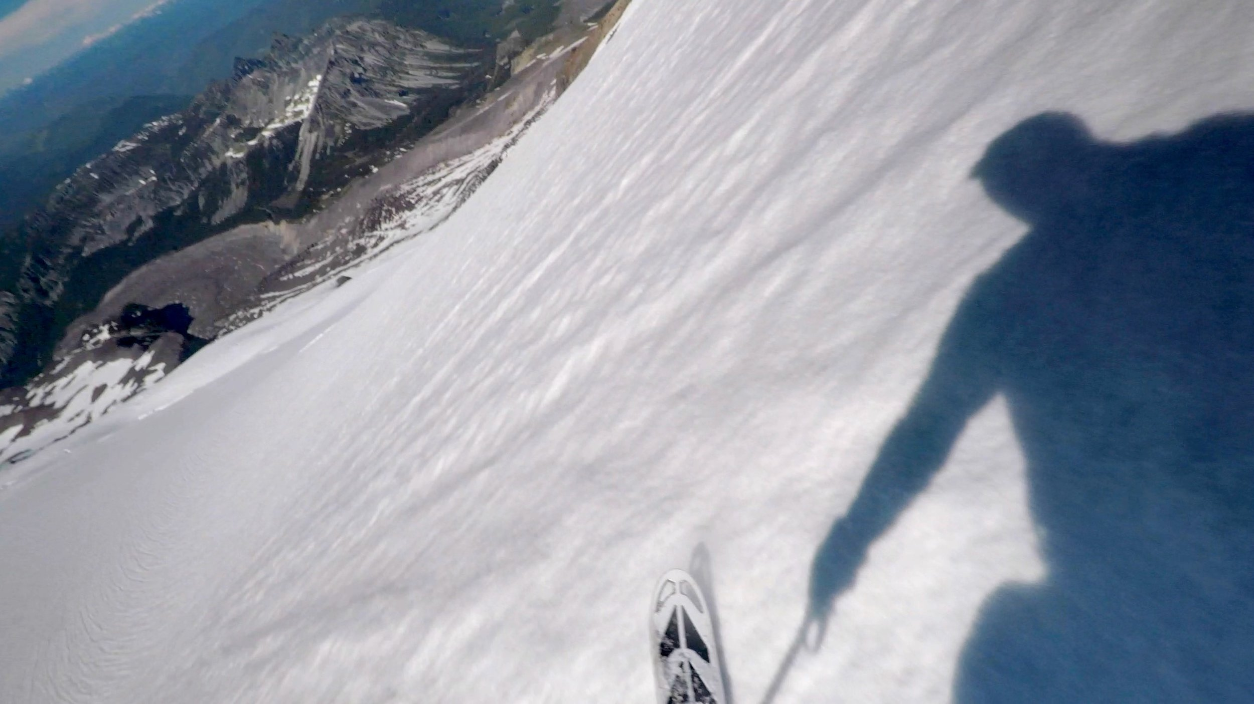 skiing the Russell Glacier, Carbon Glacier below (upper left)