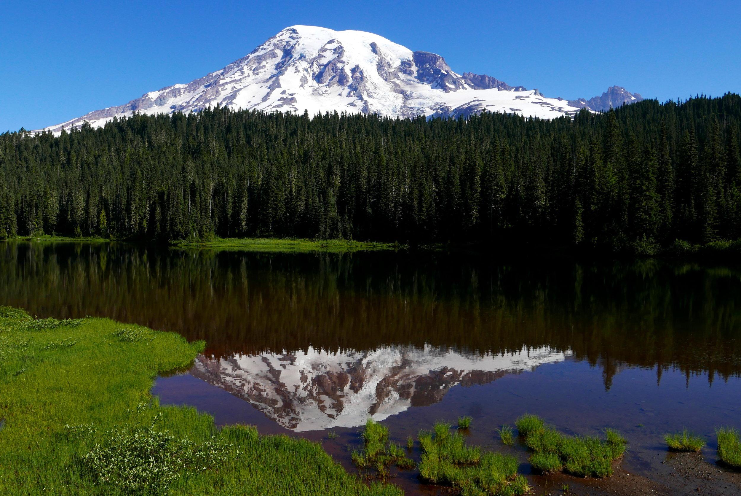 """Reflection Lake on RIMROBOD first leg """"Out"""""""