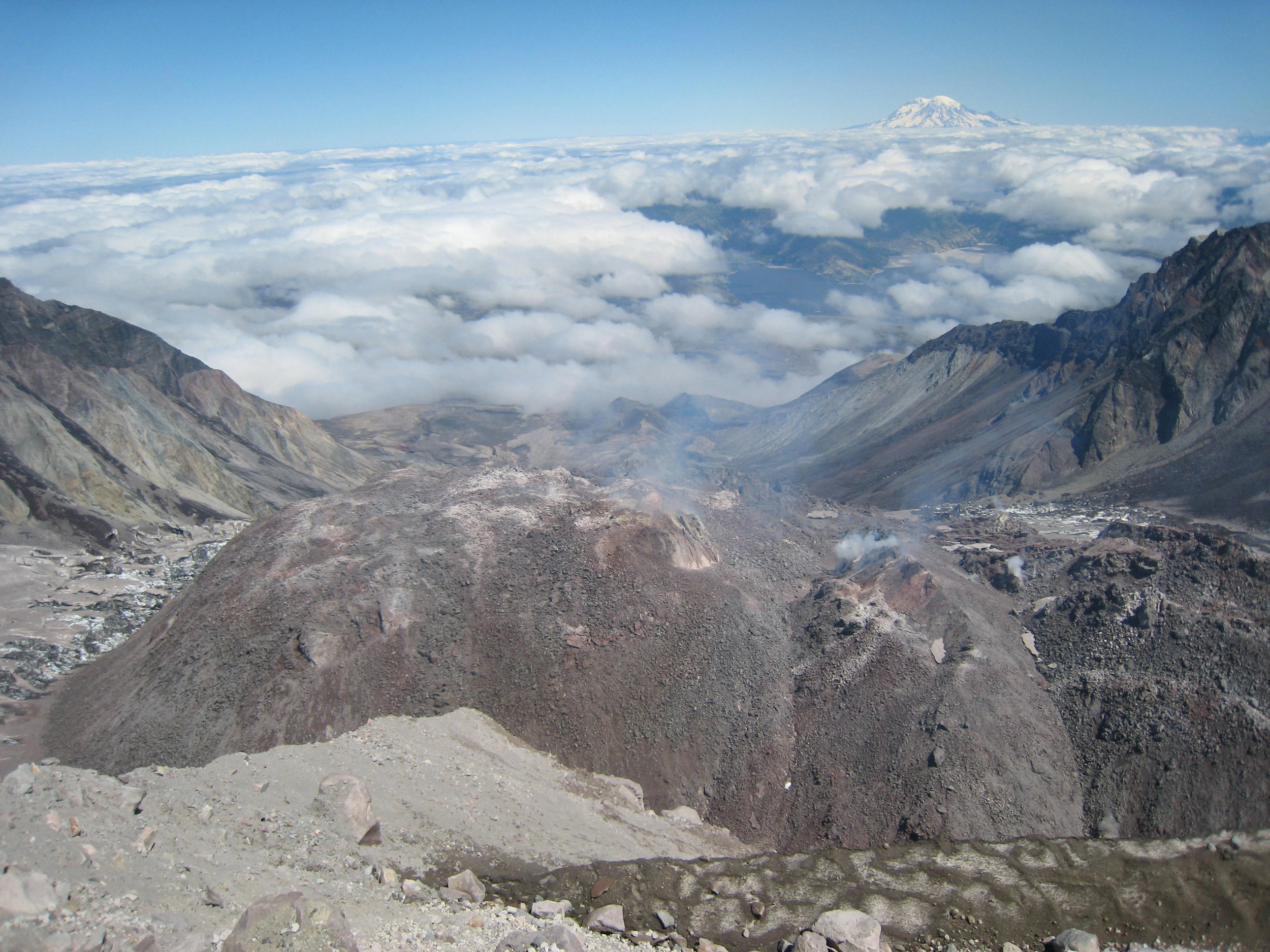 Mt. St. Helens dome in 2007