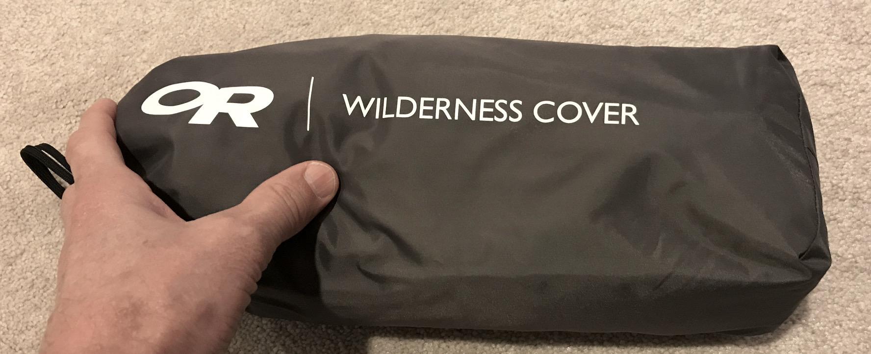 The packed size of the OR Wilderness Cover