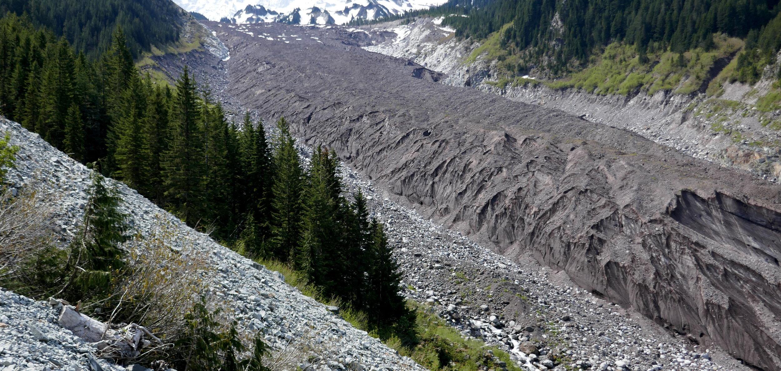 The lower Carbon Glacier