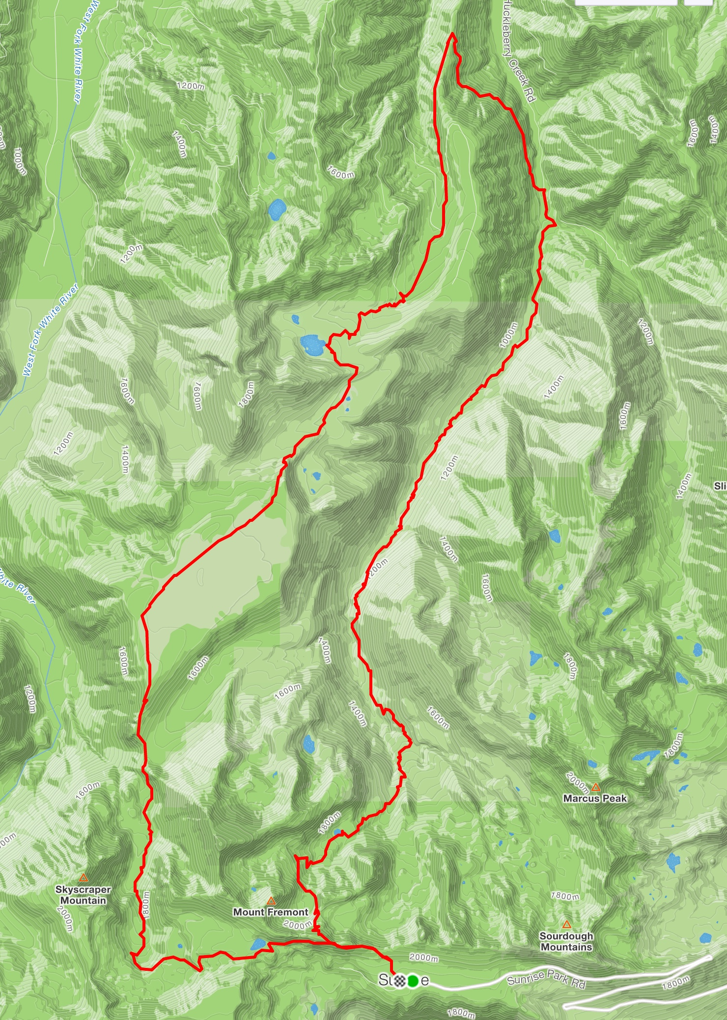 Huckleberry/Grand Park Loop (26 miles/5500')