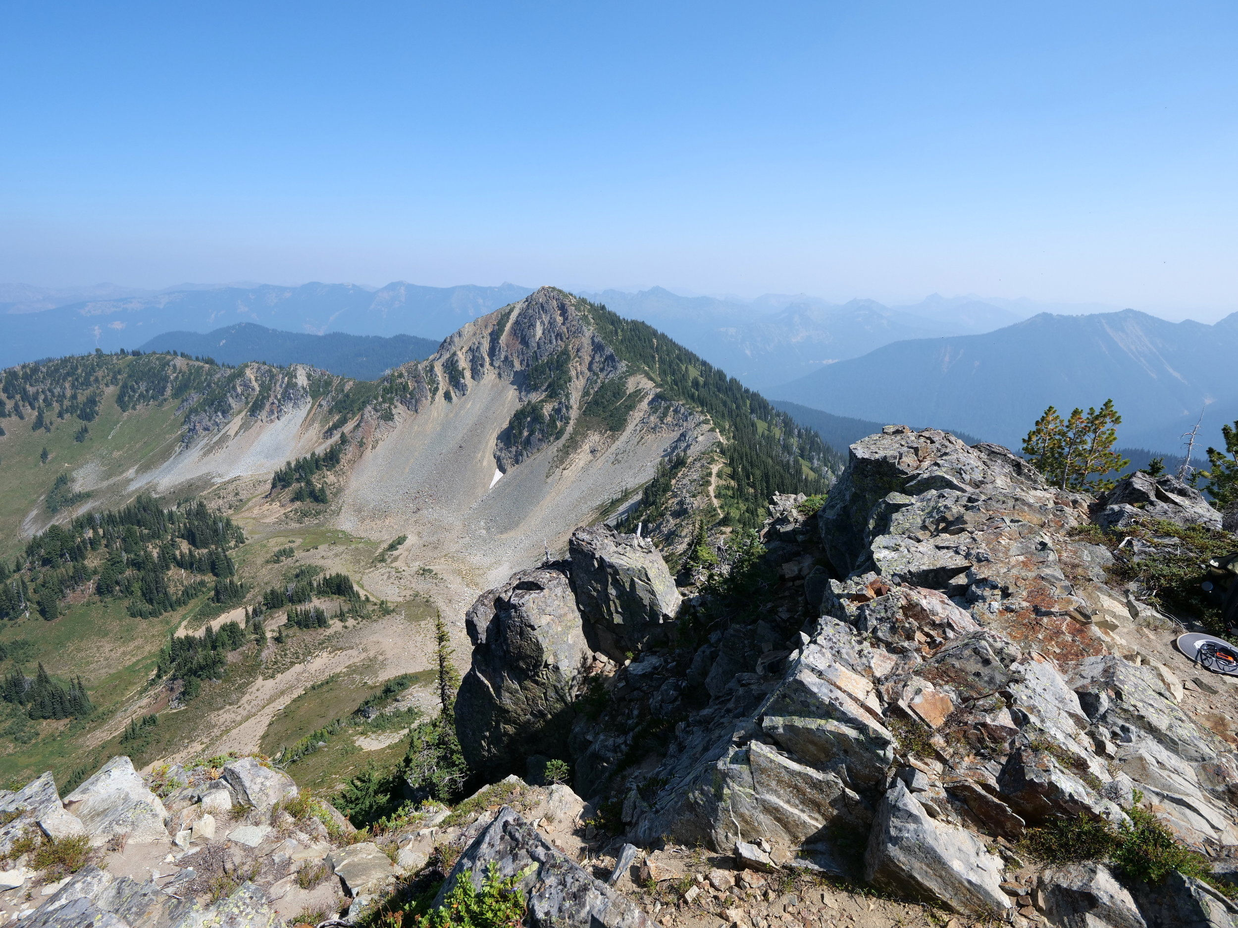 Looking back at Dege (7006') from Antler summit