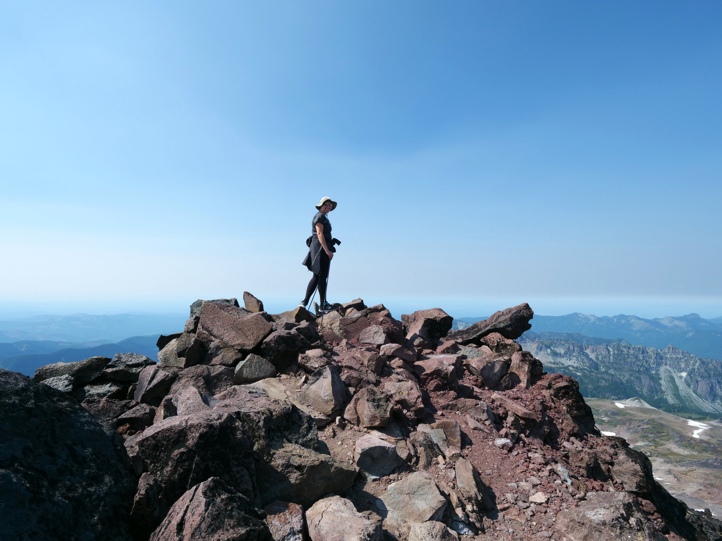 My daughter on the summit of Observation Rock (8364')