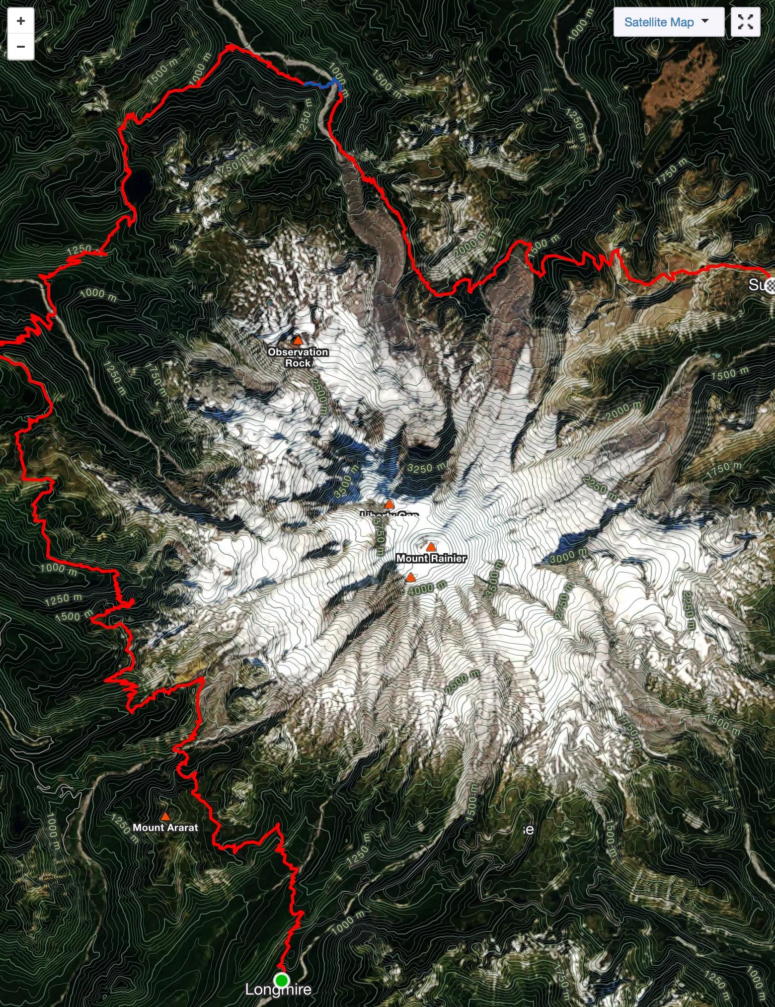 Strava map showing 57 mile Wonderland section