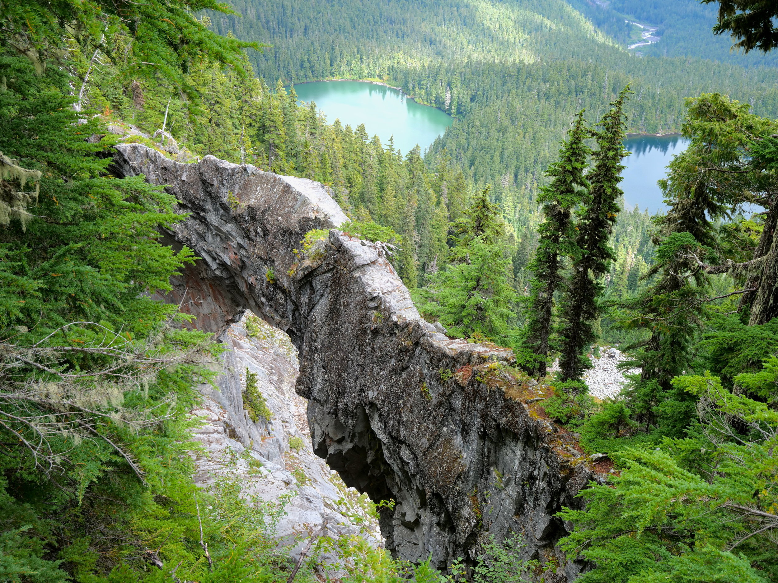 Natural Bridge with Lakes Ethel and James below