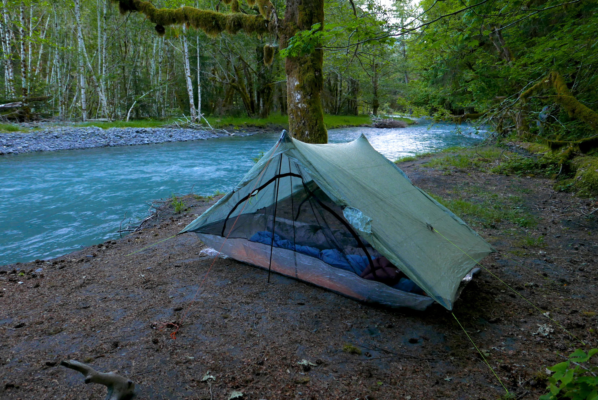 Duplex on the Hoh River, Olympic National Park: configured for air flow.