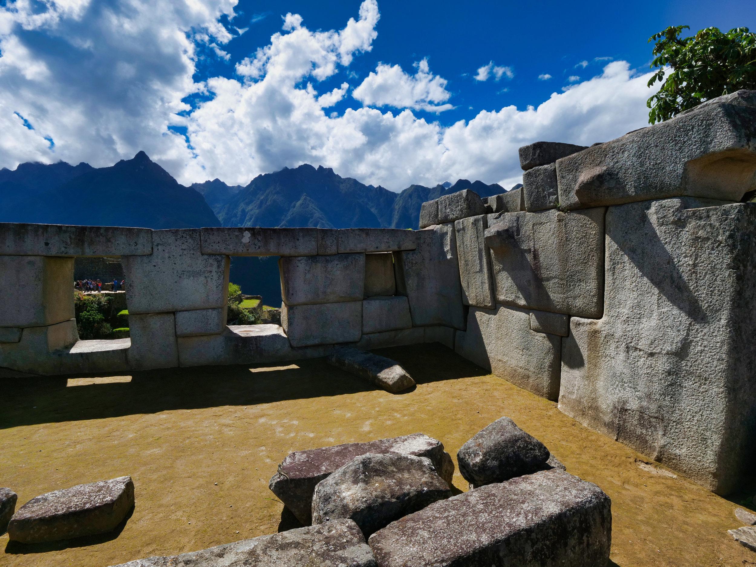 Incredible stone work at Machu Picchu