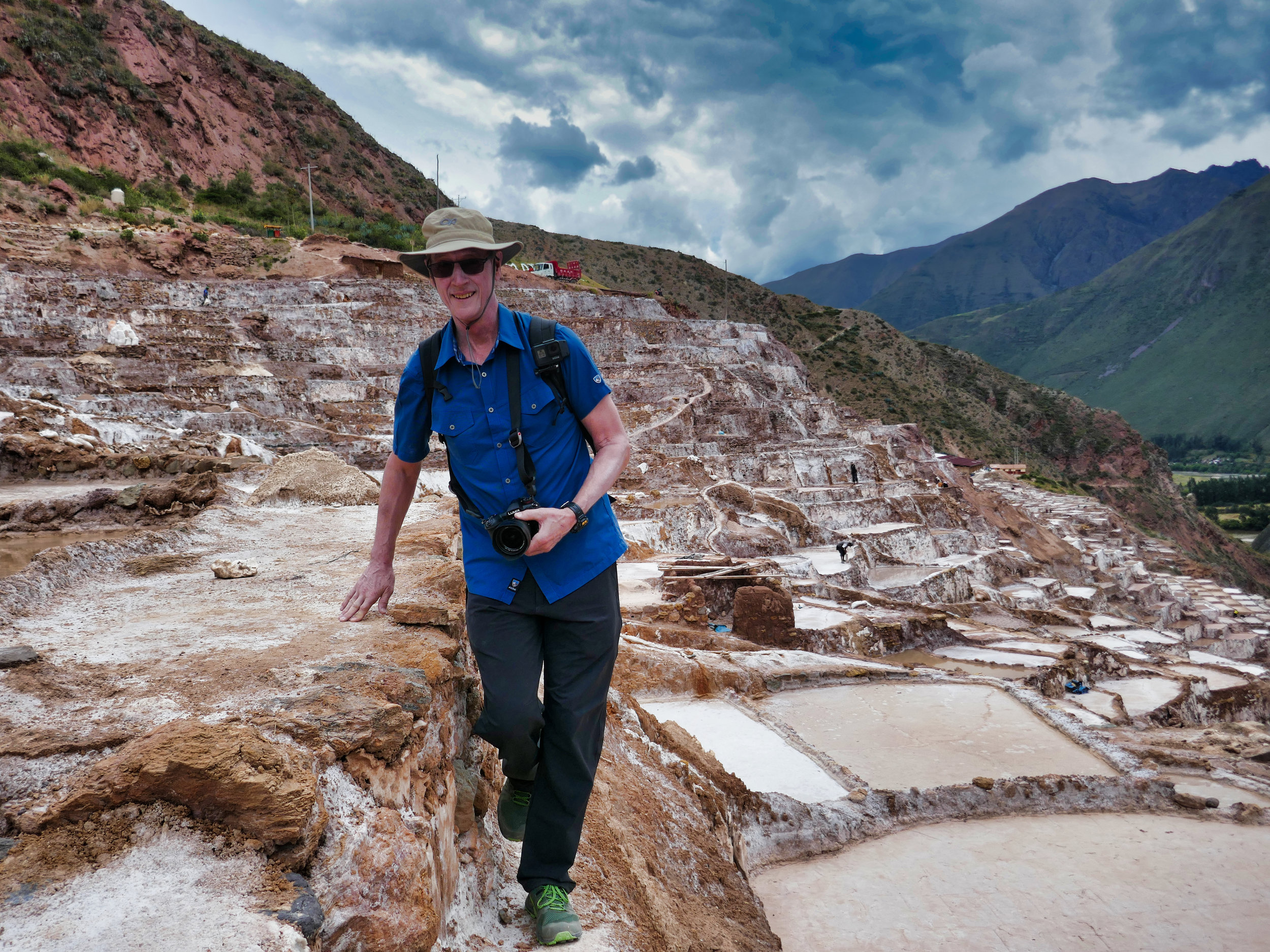 Maras salt pond transit, Peru: my Urban Bag was always on my back