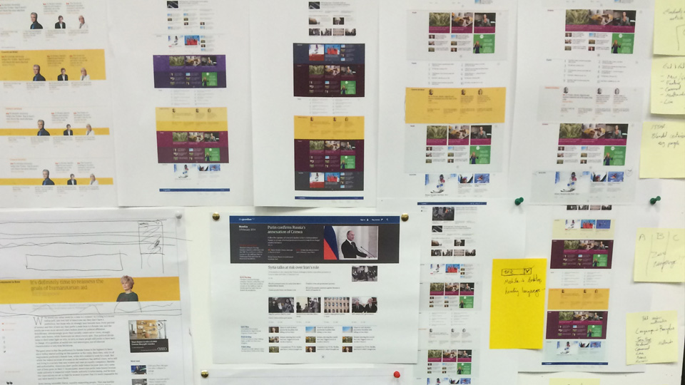The Guardian - Digital brand design and UI