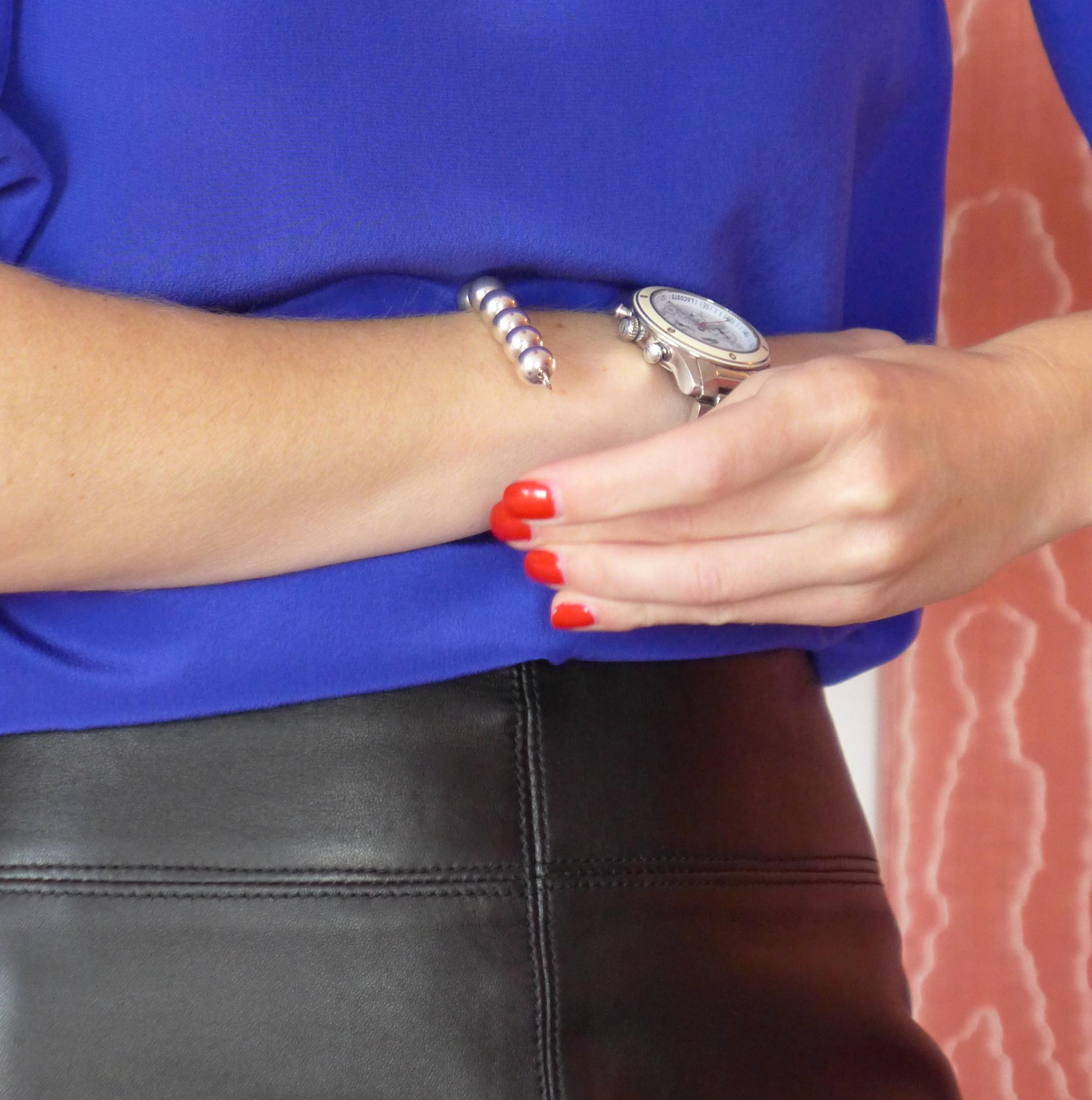 silk-blouse-and-silver-bracelet