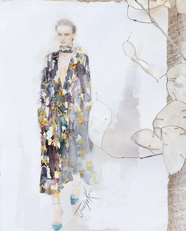 I truly love how #VBSS20 design this season ❤️ Deep V-necklines and that billowing flow skirts! Ahhhh 😆' I gotta paint it' was my first thought 💭  這次Victoria Beckham 設計的款式太讓人想畫了!上半身俐落帥氣地剪裁加上飄逸的裙擺。花紋、選色都好讓人喜歡💕 讓我忍不住看到時就想畫😆  #fashionillustrations #watercolorfashionillustration #VBSS20 #vbss #fashion #fashiondesigner #fashionart #fasiondesign #fashionsketches #fashionsketch #fashionstylist #victoriabeckham #時尚插畫 #時尚 #水彩 #時尚設計 #插畫 #fashionista  #londonfashionweek2019#londonfashionweek2020 #parisfashionweek #newyorkfashionweek #fashionweek #lfw #pfw #nyfw #milanfashionweek #londonfashion #runwaymodel
