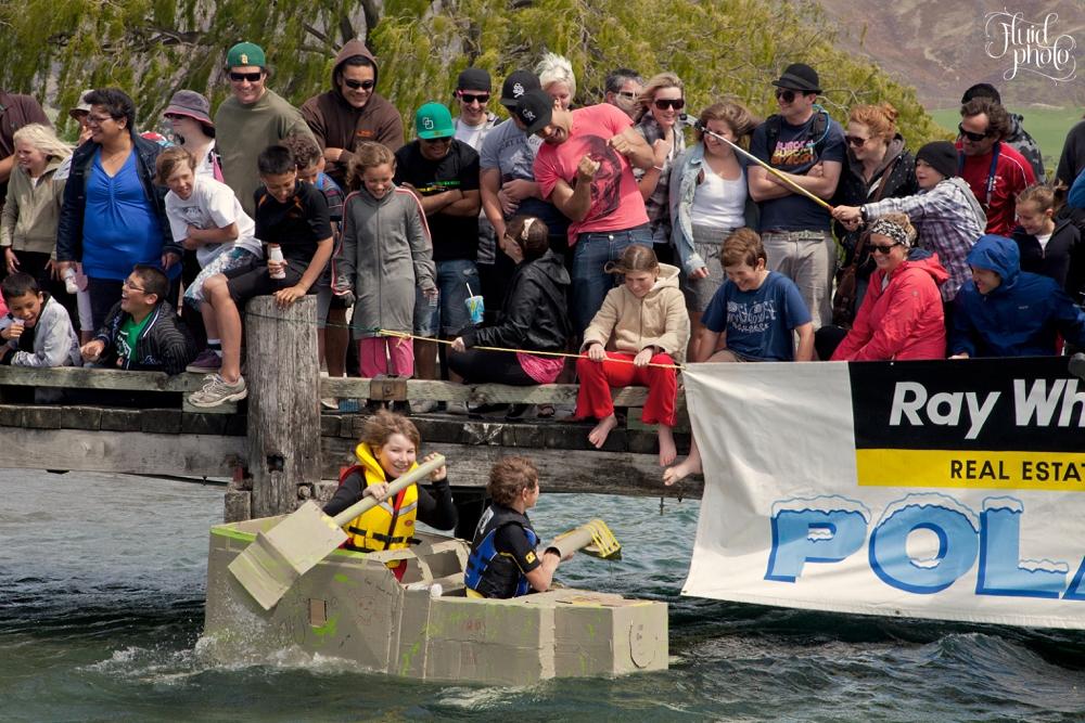 Wanakafest Cardboard Boat Race