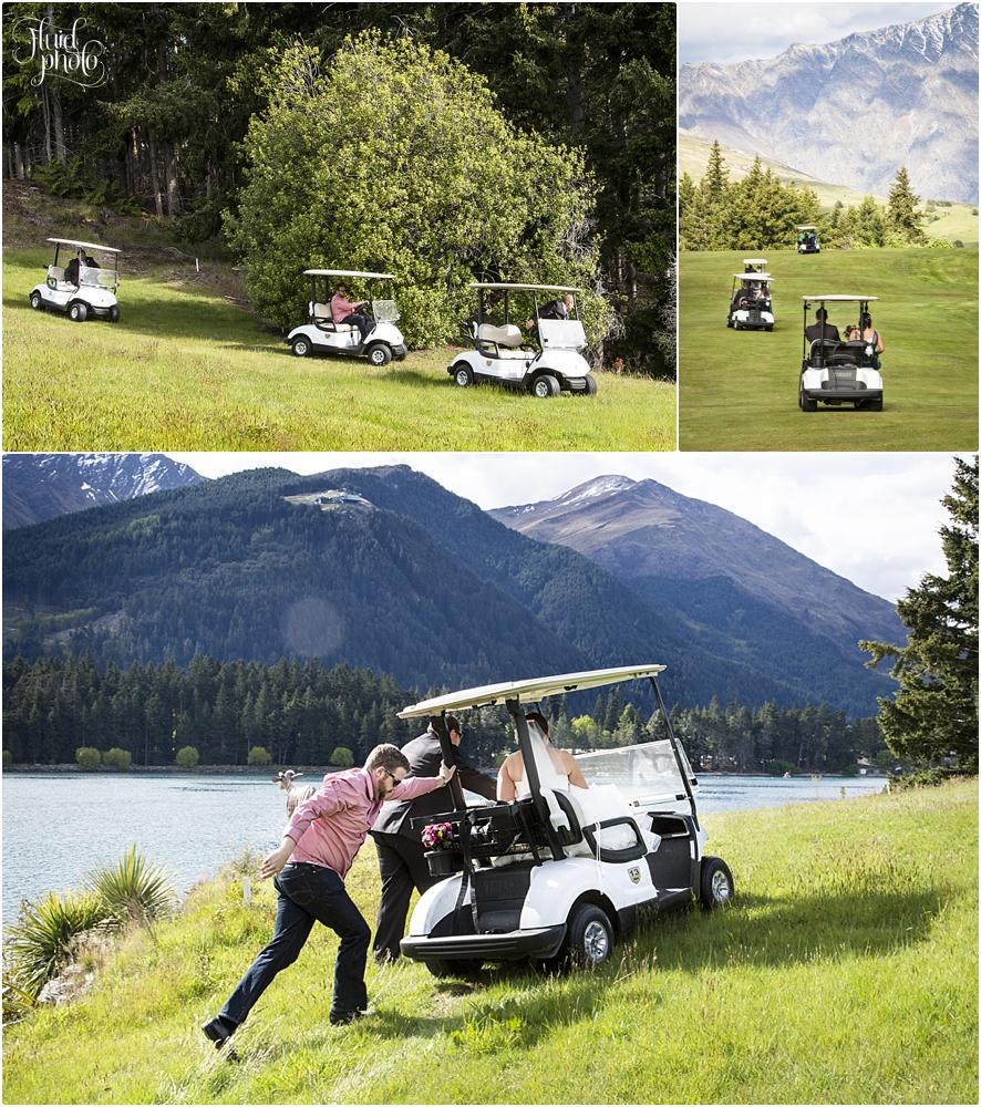 golf cart wedding queenstown photo 27