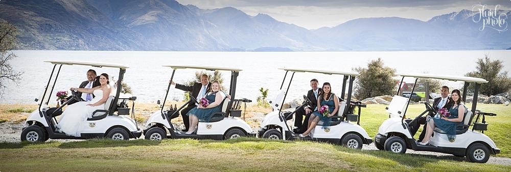 golf cart wedding queenstown photo 28