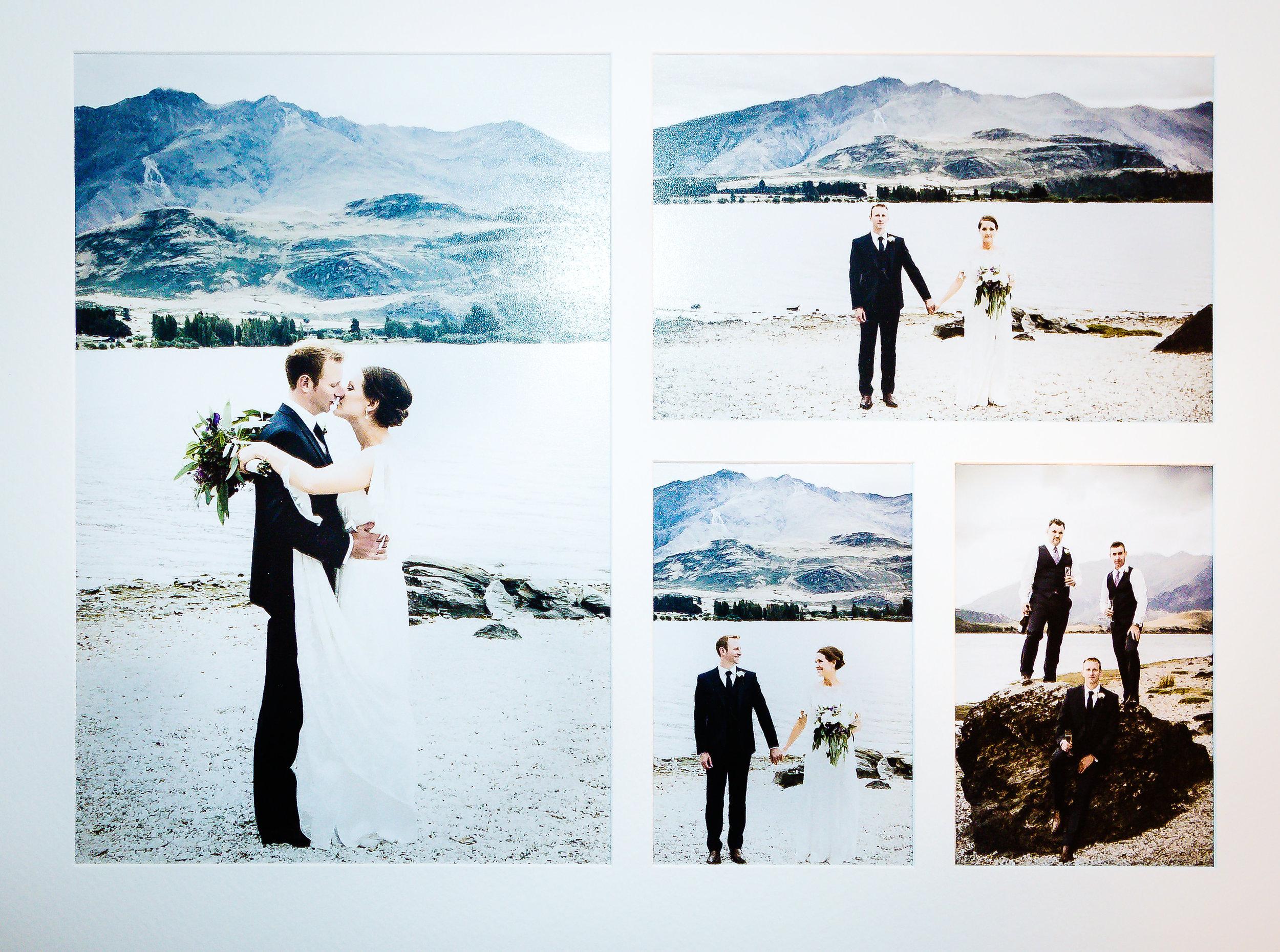 Overlay matted wedding album