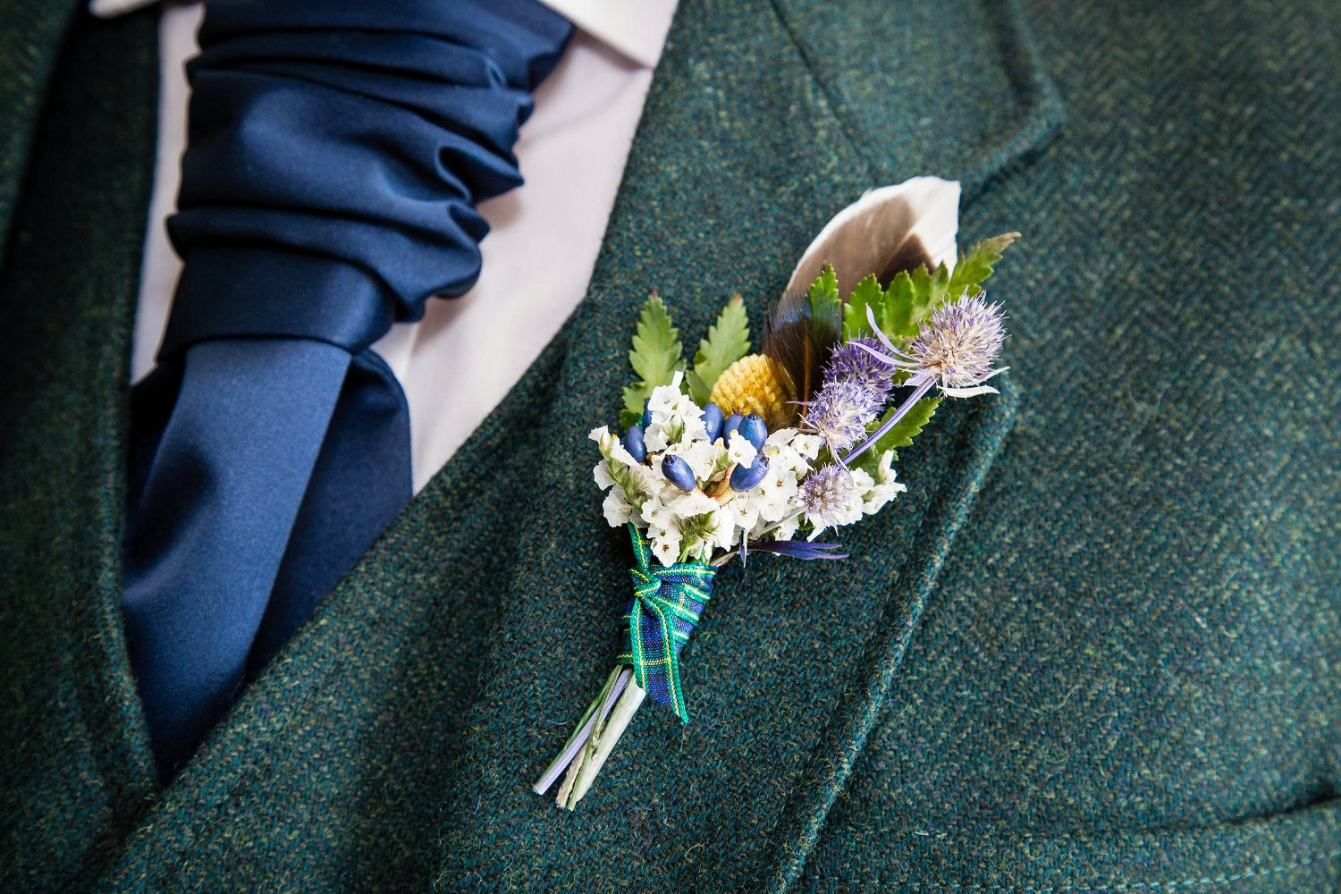 Detail Portrait of Boutonniere by Fluidphoto