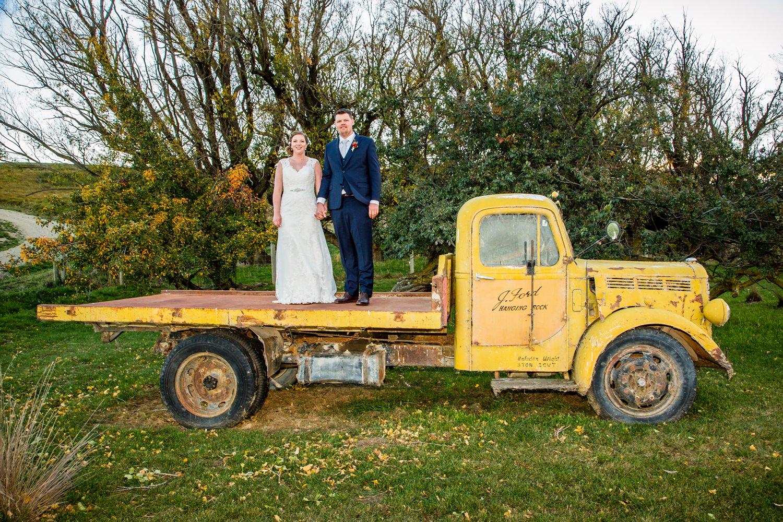 Rustic wedding transport