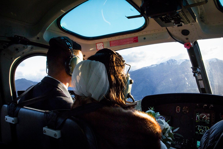 Heli wedding ride in Wanaka | Coromandel Peak