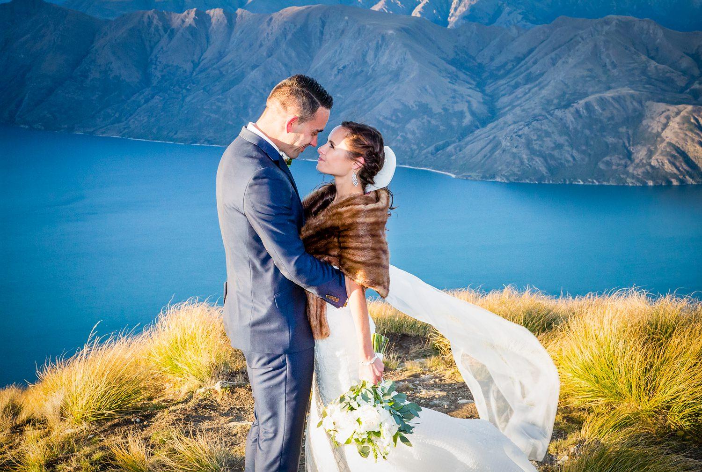 Coromandel Peak | Helicopter wedding photography in Wanaka. | #sayidoinwanaka
