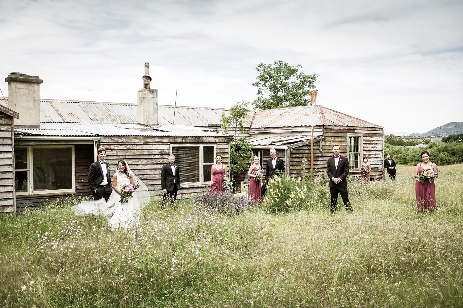 Wanaka wedding Rachel and Dan Rustic farm hpuse