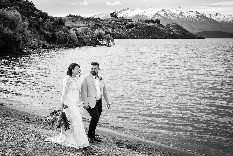 Beautiful Black and White Wanaka Wedding Photography