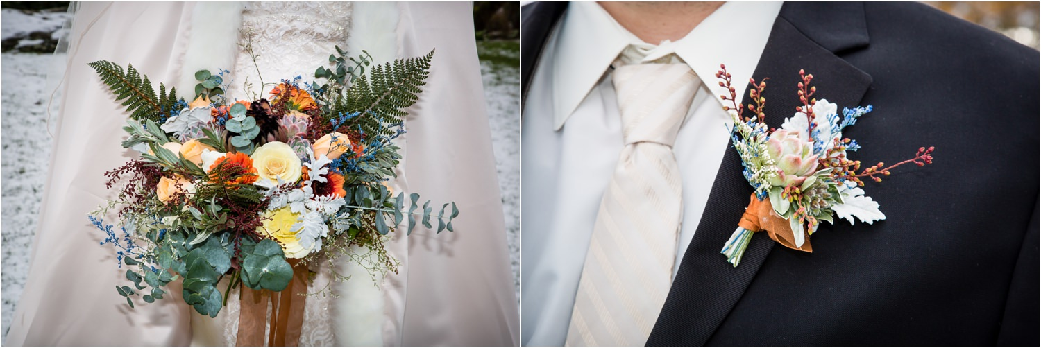 Flowers by Crimson Wedding flowers | Wanaka Winter Wedding | Mountain wedding | Photography by Ruth Fluidphoto