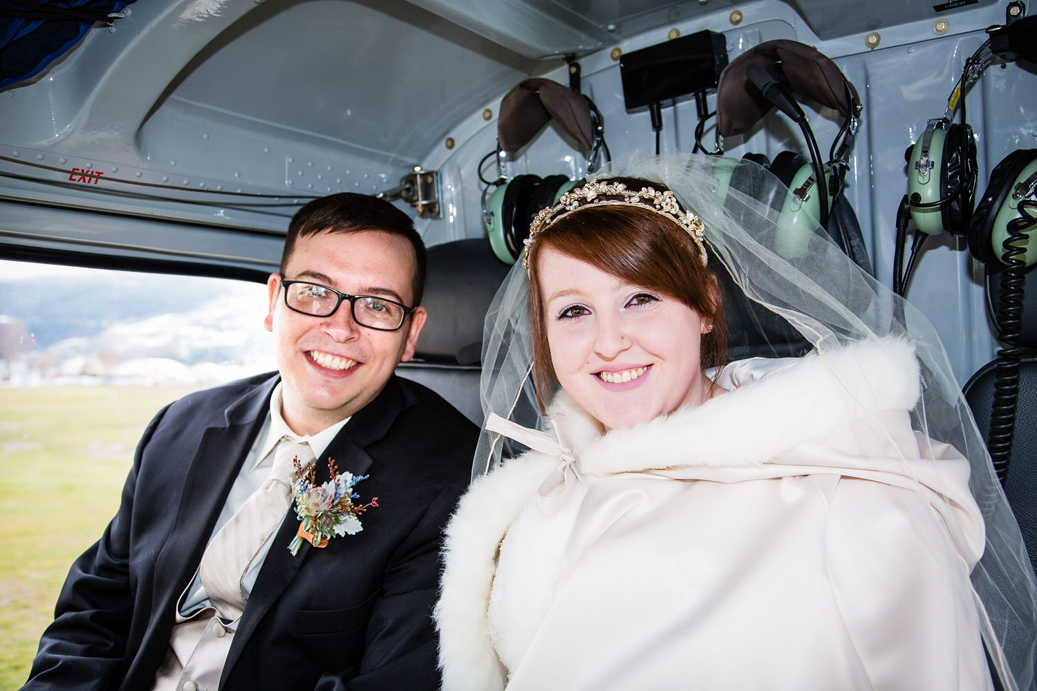Heli wedding |  Wanaka Winter Wedding | Mountain wedding | Photography by Ruth Fluidphoto