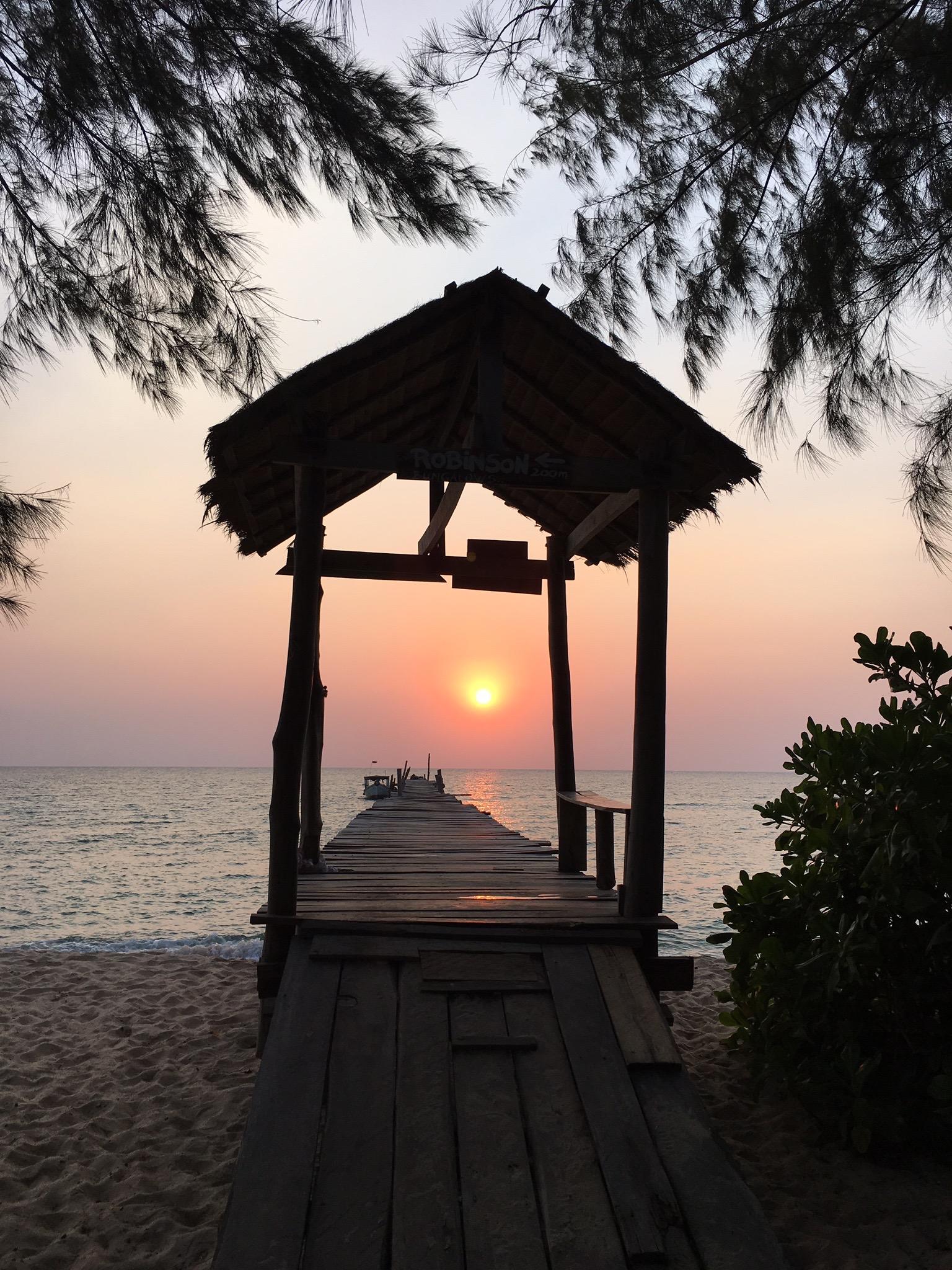 Amazing sunset on Samloem