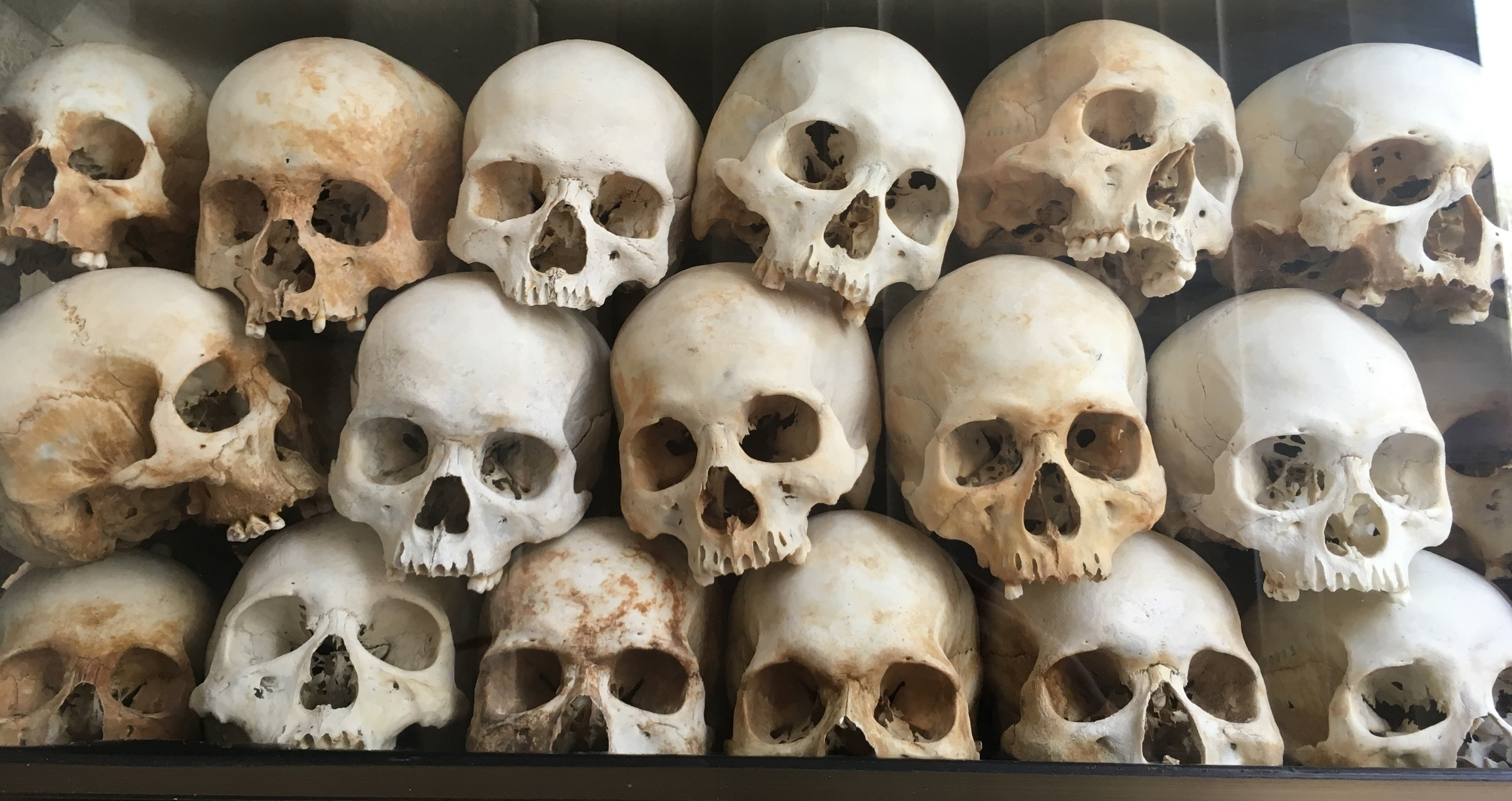 All that is left of so many people following years of horror inflicted by Pol Pot and the Khmer Rouge