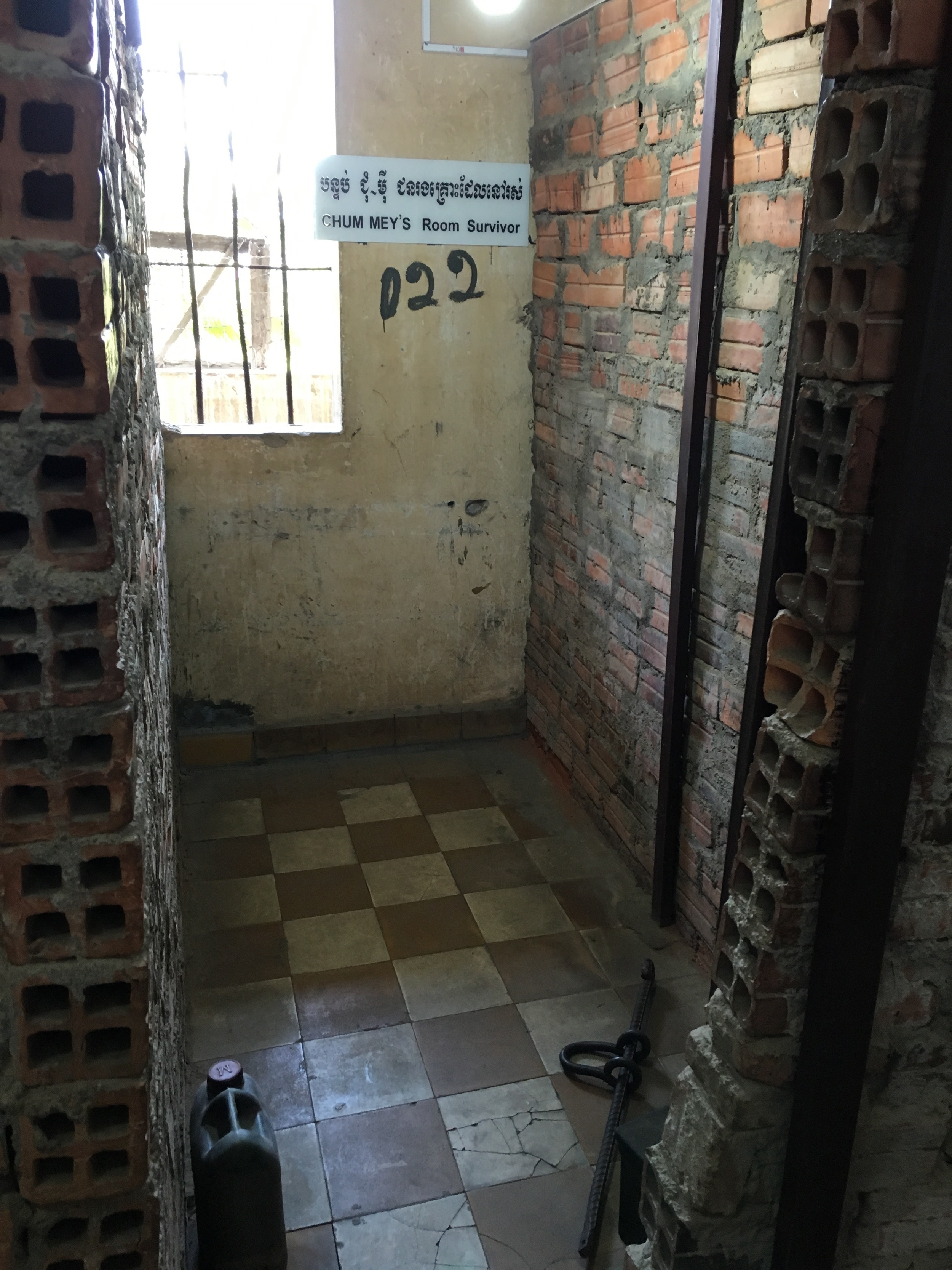 A cell for two prisoners at Camp 21