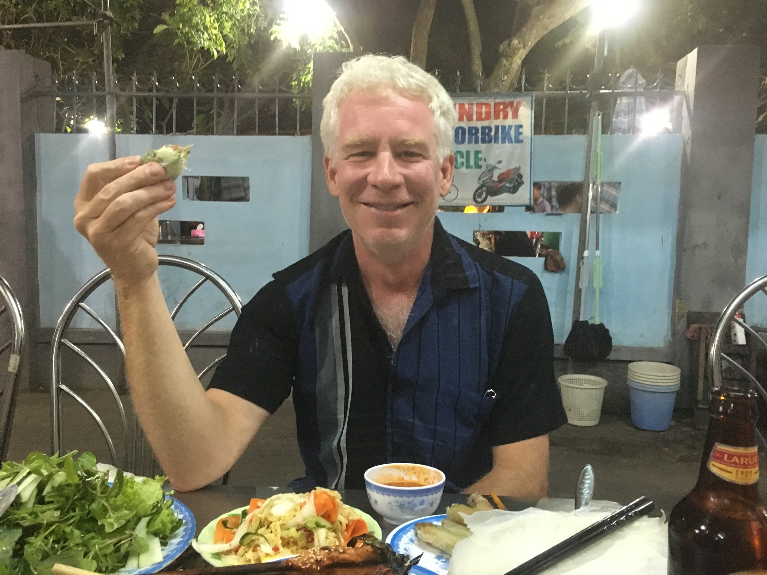 Dinner with Bruce in Hoi An, Vietnam