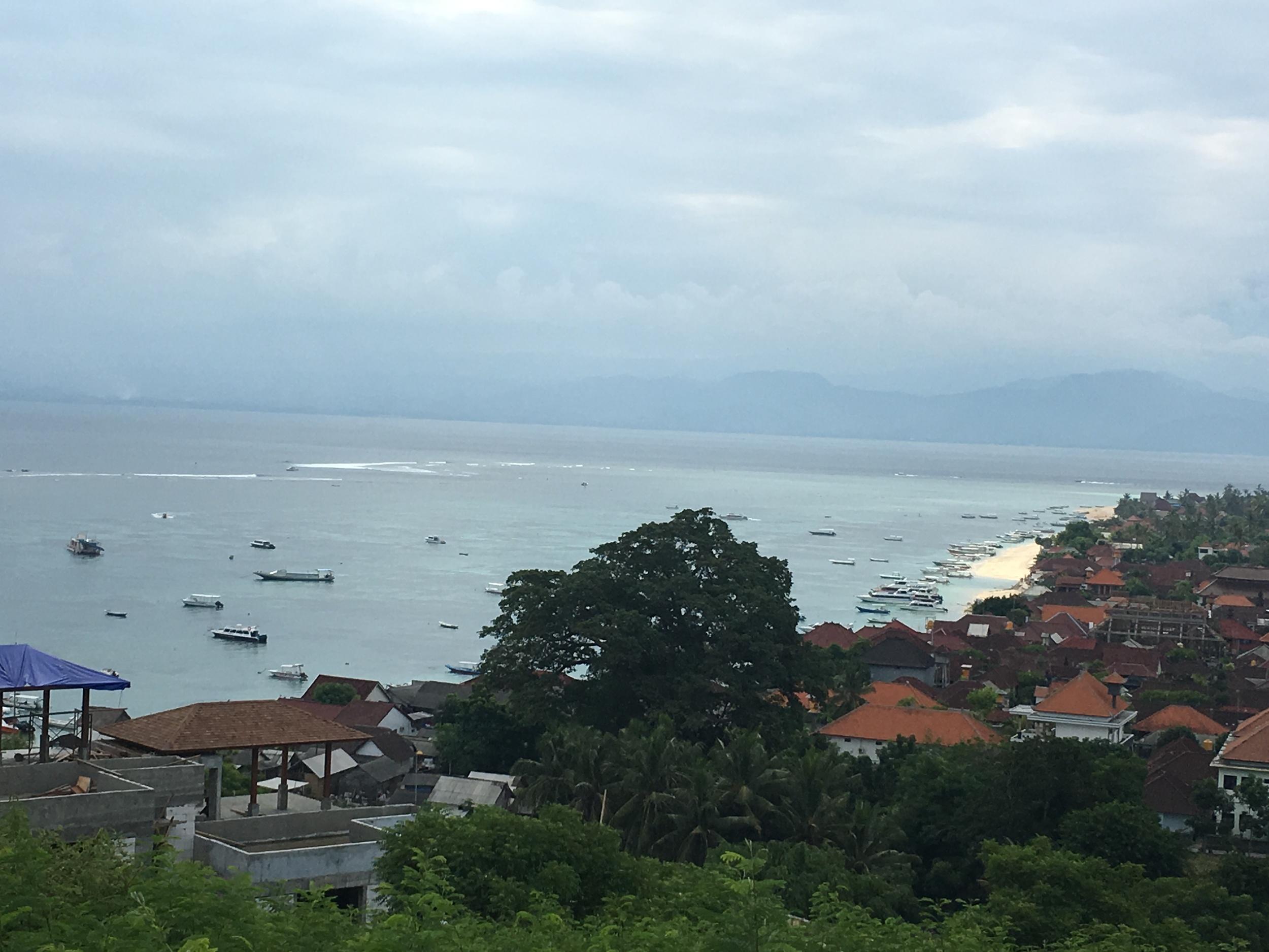 View of Nusa Lembongan's main beach